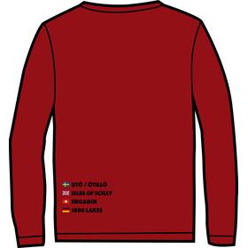 ÖTILLÖ Crew LS Shirt Dame burgundy